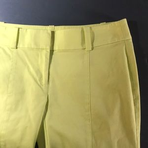 Ann Taylor Carnegie crop pants lime green/ yellow